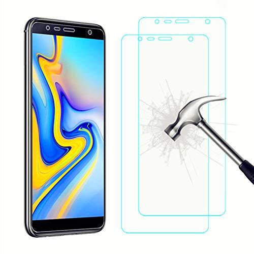 AhaSky 2X Vetro temperato Compatibile con Samsung Galaxy J6 Plus/J4 Plus Pellicola Protettiva, Pellicola Vetro Temperato Screen Protector, 9H Durezza Ultra Resistente [Anti-Graffo/Olio/Impronta]