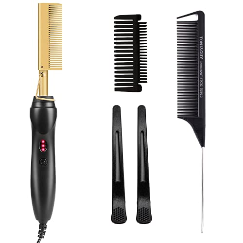 Hot Comb Professional Electric Straight Comb Electric Heating Comb Hair Straightener for Stylist and Salon at Home