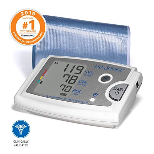 LifeSource Upper Arm Blood Pressure Monitor with Extra Large Cuff (UA-789AC) Blood Monitors Pressure