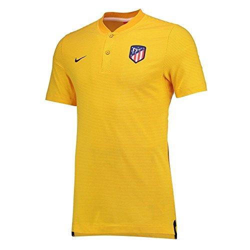 2017-2018 Atletico Madrid Nike Authentic Grand Slam Polo Shirt (Gold)