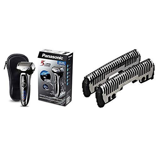 Panasonic ES-LV65-S803 Premium Wet & Dry - Afeitadora Eléctrica para Hombre/Máquina de Afeitar de Láminas para Barba Recargable + Panasonic WES9170Y1361 - Hoja exterior para afeitadoras
