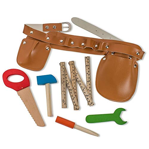 Dress Up America 929 BauWerkzeug Gürtel fünf Holzwerkzeuge ideal Construction Tool Belt Set