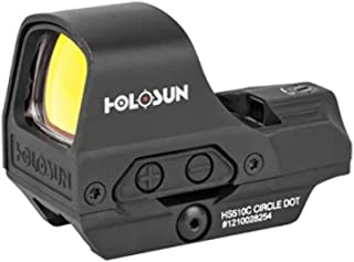 Holosun HS510C 2 MOA Dot Or A 65 MOA Ring Open Reflex Circle Dot Solar Power Holographic Red Dot Sight