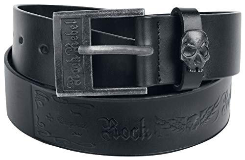 Rock Rebel by EMP Decorate Your Belt Unisexe Ceinture Noir 100 cm, 85% Leder, 15% Polyurethan,