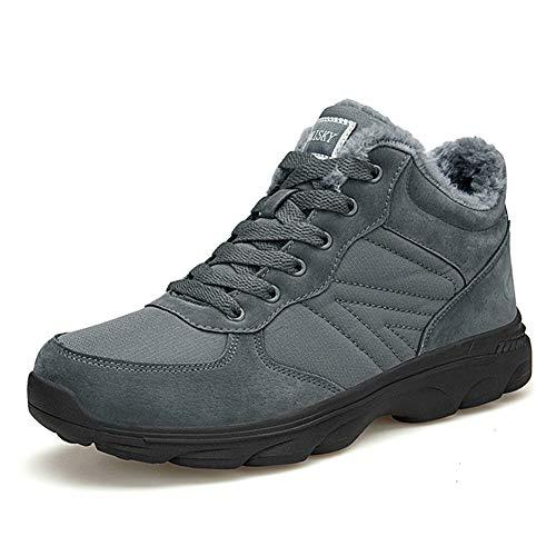 TORISKY Hombre Mujer Botas de Nieve Invierno Aire Libre Zapatos Impermeable Antideslizante Calientes Botines Planas 36-46EU(6919-Grey42)