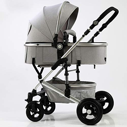 New JIAX Foldable Baby Stroller,Travel System with Baby Basket Anti-Shock Springs Newborn Baby Pus...