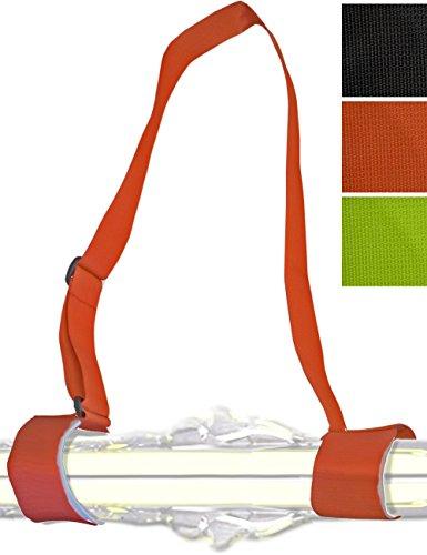 Glamia Hometools.eu® – Cintura da sci, cinghia da indossare, passanti, tracolla per sci e bastoni da sci, sci carving, sci da escursioni, sci di fondo, 3 colori, Rot