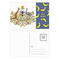 キャンベラオーストラリアの国章 バナナのポストカードセットサンクスカード郵送側20個