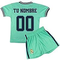 Champion's City Kit - Personalizable - Camiseta y Pantalón Infantil Tercera Equipación - Real Madrid - Réplica Autorizada