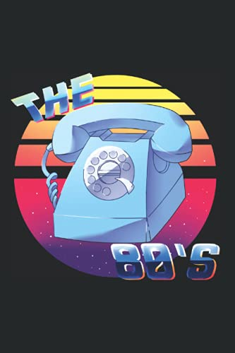80\'s 80er Musik Notizbuch: 120 Seiten Kariert - Achtziger 1980 Retro Telefon Vintage