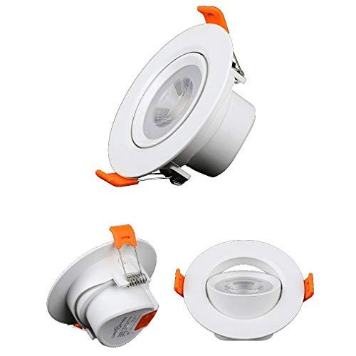 Downlight Proyector LED lámpara de Techo del Techo del Pasillo de la Sala de Estar 5W6W8W empotrada Reflector de la MAZORCA (Color : Neutral Light, Size : LED spotlights 5W)