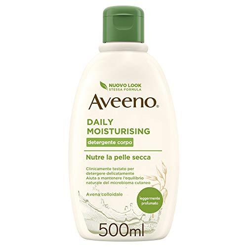 Aveeno Crema Corpo Idratante Bagno Doccia,Daily Moisturising, Profumo Delicato, Pelli da Normali a Secche, 500 ml
