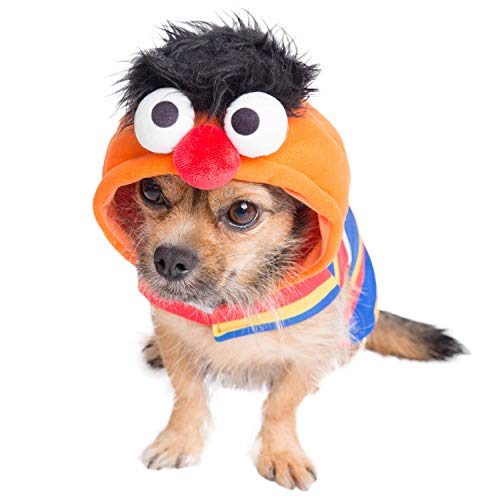 Pet Krewe Ernie Costume – Sesame Street Ernie Dog Costume – Fits Small, Medium, Large and Extra Large Pets – Perfect for Halloween, Parties, Photoshoots, Gifts for Dog Lovers (M)