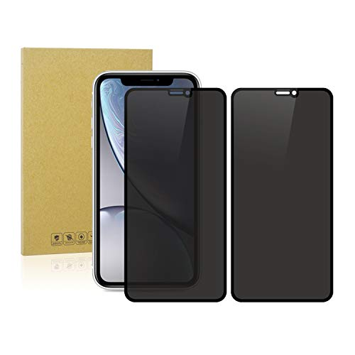 Dtdepth Privacy Screen Protector for iPhone XR & iPhone 11 (2-Pack), Tempered Glass, Anti Spy, Anti-Fingerprint/Scratch, Full Coverage, Full Glued, Bubble Free, Curved Edge to Edge, Slim and Sturdy