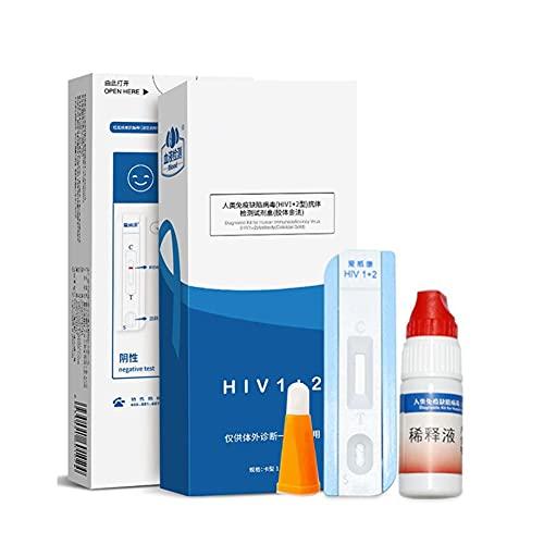 2 dozen HIV-test Zelf - bloedtestanalyse, humaan immunodeficiëntievirus, eenvoudig/betrouwbaar, met bloedafnamenaald/druppelaar/alcohol wattenschijfje