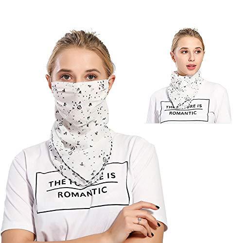 2019 Women Lightweight Summer Shade Masks Silk Scarf Sunscreen Neck Protective Dustproof Anti-UV Breathable Outdoor Spring Travel (BB)