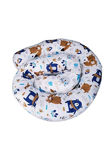Divita Baby Nestchen Babynestchen Bettschlange Babybett (300 cm, Tiere/Blau)