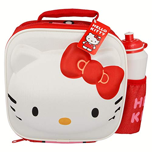 SET BOLSA AISLANTE 3D CHARACTER Y BOTELLA SPORT HELLO KITTY
