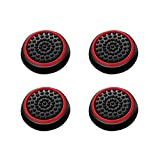 Insten [2 Pair / 4 Pcs] Wireless Controllers Silicone Analog Thumb Grip Stick Cover, Game Remote Joystick Cap Compatible with PS4 Dualshock 4/ PS3 Dualshock 3/ PS2 Dualshock/Xbox One/360, Black/Red