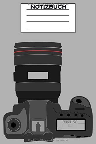 Fotografie Notizbuch: Fotograf Notizbuch für Erwachsene, Frauen, Männer, Mädchen, Jungen, Kinder   120 liniert Seiten, 6x9 (A5)   Kamera, Fotoliebhaber Geschenke   Fotografin - Fotografen vol. 2
