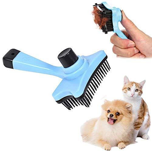 AMAZING1 Dog Cat Brush Small Self Cleaning Pet Grooming Brush Brush for shedding Removes Loose Fur Dirt,Pet Massage Bath Brush Best Shedding Brush Helps Striping, Finishing, Detangling