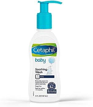 Cetaphil Paraben Free Hypoallergenic Baby Soothing Wash 5 Fl Oz