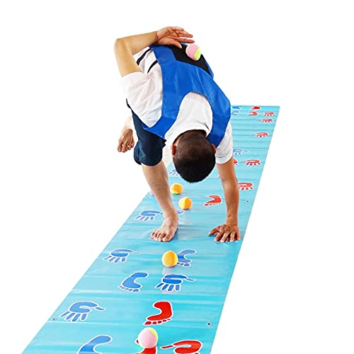 ZXZCHGN Hand Foot Hopscotch Game Pad, Hands and Feet Game Pad, Team Expand Props,Outdoor Training Group Building Fun Game Pads for Back To School Icebreaking And Team Building