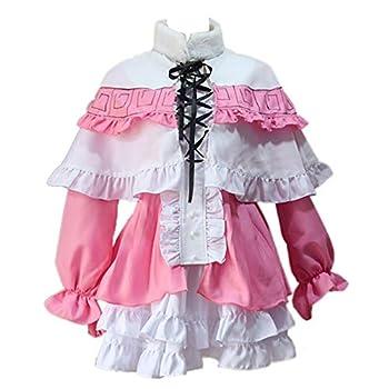 Anime Miss Kobayashi s Dragon Maid Cosplay Costumes Kanna Kamui Women Dresses Halloween Party  S  White and Pink
