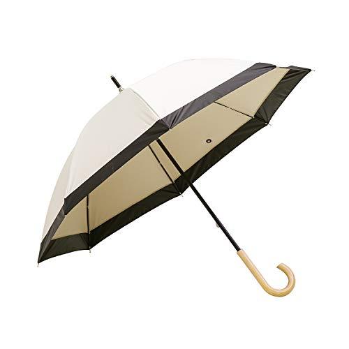 モダンデコ 日傘 晴雨兼用 遮光率100% 紫外線・UV対策 (upf50+) 84cm (モカベージュ)
