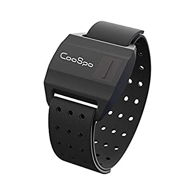 CooSpo Optical Armband Heart Rate Monitor with Bluetooth/ANT+ for Peloton, Endomondo, Wahoo, Garmin, Zwift