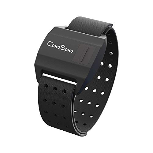 CooSpo Optical Armband Heart Rate Monitor with Bluetooth/ANT+ for Peloton, Endomondo, Wahoo, Garmin, Zwift