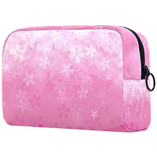 Bolsa de maquillaje para mujer, acuarela, caballitos de mar, coloridos, organizador de cosméticos de viaje, con cremallera, bolsas de aseo