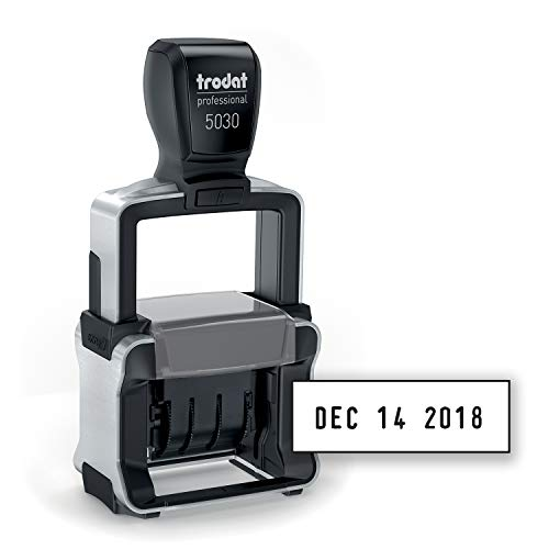 Trodat Professional 4.0 Date Stamp, Dater, Self-Inking, Impression Size: 1 5/8 x 3/8 Inches, Black (T5030)