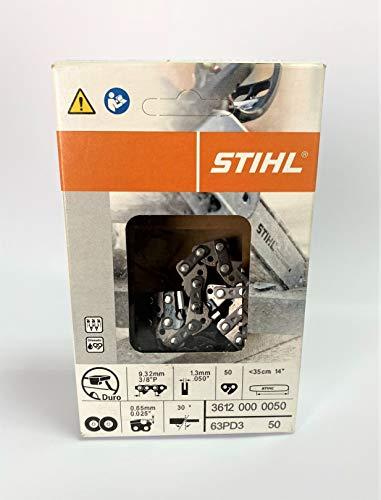 Cadena motosierra Stihl 50 eslabones espesor 1.3mm. Acero Duro Widia. Producto Original Stihl