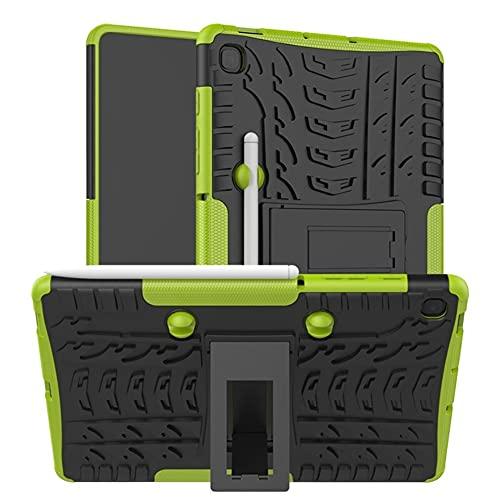 QiuKui Tab Funda para Samsung Galaxy Tab S6 Lite 10.4', Armor PC + TPU Funda de Stands a Prueba de Golpes para Galaxy Tab S6 Lite SM P610 P615 (Color : Verde, Talla : For Tab S6 Lite 10.4)