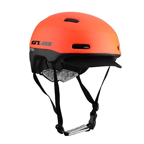 Fahrradhelm, bequem, leicht, atmungsaktiv, Schutzhelm, unisex, für Fahrrad, Hoverboard, Inline-Skate, Roller, verstellbar rot M
