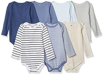 Hudson Baby Unisex Baby Cotton Long-sleeve Bodysuits, Boy Basic, 3-6 Months US by Hudson Baby