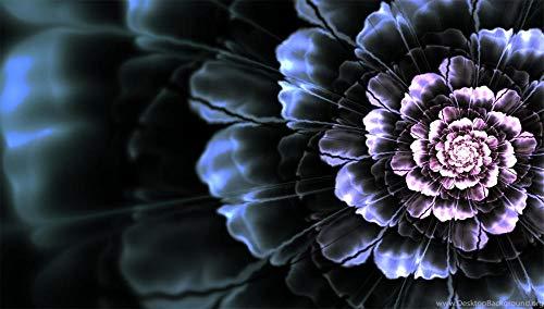 Jigsaws Puzzel,Puzzels Heldere Lijnen Bloeien Fractal Flower,Diy Houten Puzzle 35 Stukjes, Legpuzzels Voor Volwassen Kinderspeelgoed (15 * 9,9 Cm)