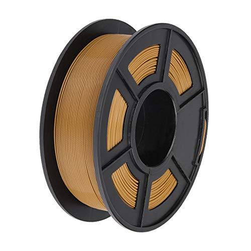 PLA + Filament 1,75 mm, 3D-Druckerfilament 1 kg, härter als gewöhnliches PLA-Braun