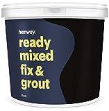 Hemway Joint Premium Fix and Grout pré-mélangé - 4,5 kg 2,5 L, noir