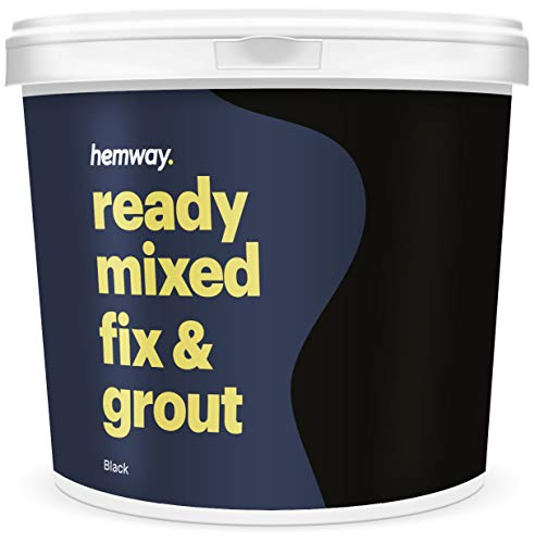 Hemway Premium Ready Mixed Fix and Grout 4.5kg 2.5L (Jet Black)