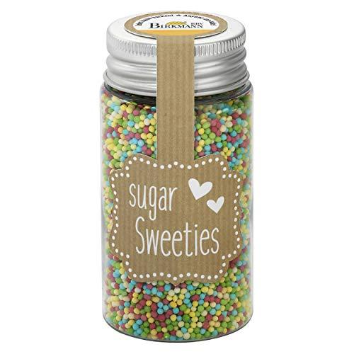 Birkmann Zucker-Dekor Nonpareilles-Mix, Zuckerdekor, Zuckerperlen, Backdekoration, Bunt, 75 g, 504622