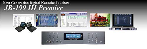 CAVS JB-199 III Premier Karaoke machine, dual microphone mixer, HDMI VGA RCA video outputs, Stereo audio output, dual LAN ports, OPDIN port for Bill Acceptor, Serial port for Lighting