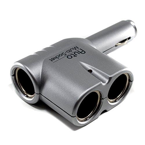 Preisvergleich Produktbild Zigarettenanzünder 12V 1 auf 3 Steckdose Adapter Verteiler Autostecker,  Auto / Pkw Adapter zum Anschluss von drei Geräten an den Zigarettenanzünder