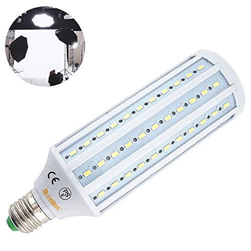 Bonlux E27 40W LED Lampe Tageslicht 5500K Studio Glühlampe für Fotografie Video Photo Beleuchtung 220V 360° Voll Spektrum Leuchtmittel (1Stück, Nicht Dimmbar)