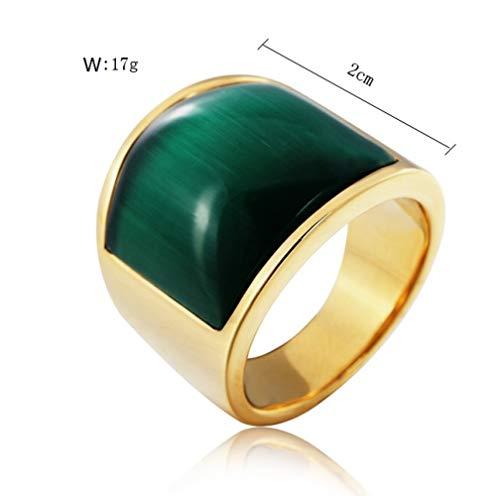 Ring Opaal Creatieve Titanium Staal Heren en Dames Sieraden Ring Kleding Accessoires Vakantie Geschenken Het perfecte Geschenk No12 A1