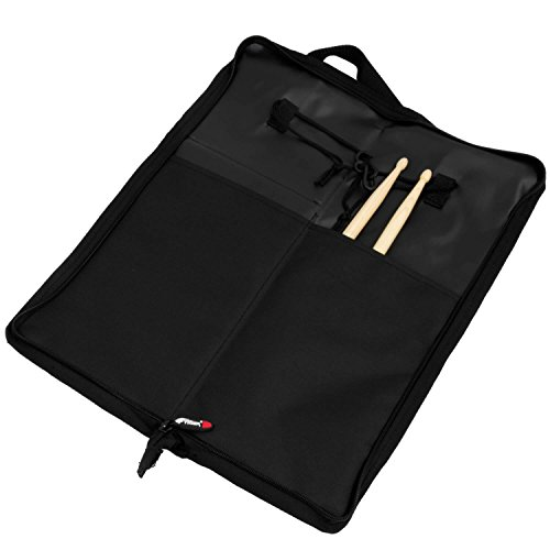 Tiger DGB42-BK Drum Stick Bag with Hardware, Floor Tom Attachments and Carry Handle