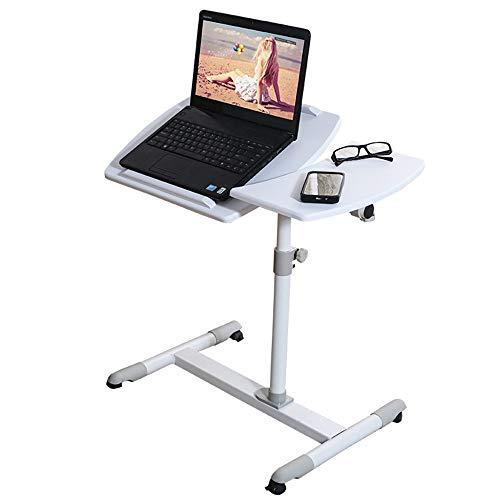 ZHEDAN Laptop-Tisch, Verstellbarer Laptop-Ständer, Sitz- / Steh-Tischwagen, Mausplatine, Höhenverstellbare, Feststellbare Rollen, Solide Und Hervorragende Stabilität