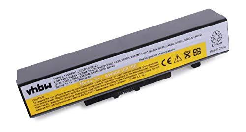 vhbw Li-ION Batterie 8800mAh (10.8V) pour Notebook Lenovo G400 Serie, G480, G480A, G485, G485A, G485G comme L11S6F01(3ICR19/66-2).