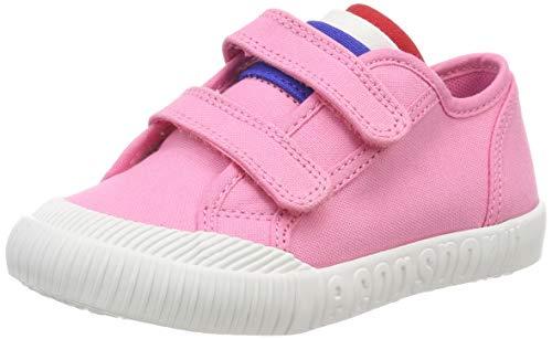 Le Coq Sportif Nationale INF, Baskets Garçon Unisex Kinder, Blanc (Pink Carnation), 22 EU